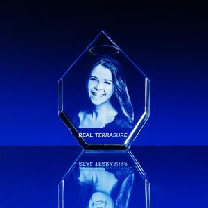 Fotografie do skla mnohoúhelný krystal