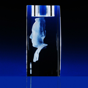 3D Fotografie do skla pro čajovou svíčku