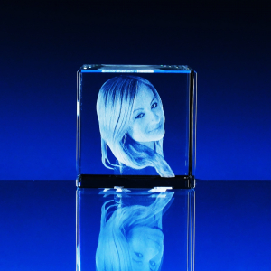 3D Fotografie do skla krychle čtyři velikosti
