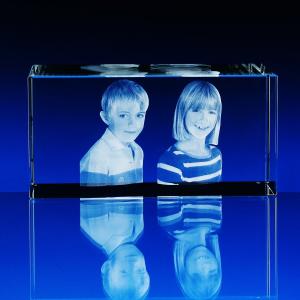3D Fotografie do skla kvádr čtyři velikosti