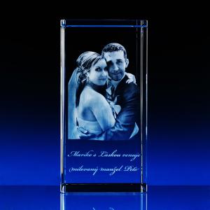 3D Fotografie do skla kvádr největši velikost