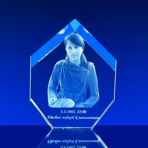 3D Fotografie do skla mnohoúhelný krystal