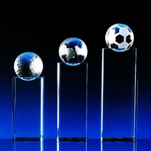 2D skleněná plaketa s volitelným míčkem