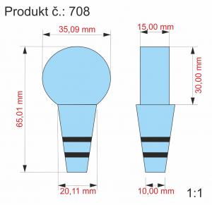 2D zátka na víno 65x35x15