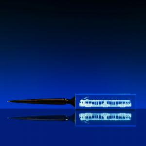 2D skleněný nůž na dopisy 30x245x15