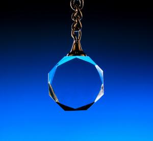 Klíčenka s řetízkem  kruhová