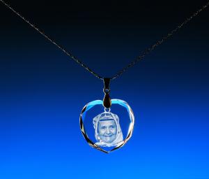 Medailon s řetízkem ve tvaru srdce